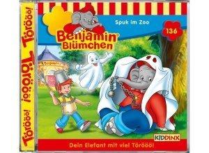 Kiddinx Hörbücher CD »Benjamin Blümchen - Spuk im Zoo (136)«