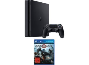 PlayStation 4 Slim (Konsolen-Set, inkl. God of War Day 1 Edition), schwarz