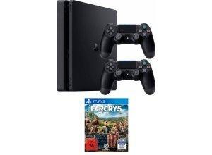 PS4 PlayStation 4 Slim (PS4 Slim) 1TB (Konsolen-Bundel, inkl. 2. Controller + Far Cry 5), schwarz