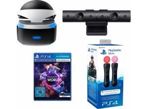 PlayStation VR Brille + VR Worlds + PS4 Kamera + Move Twin Pack