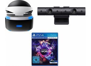 PlayStation VR Brille + VR Worlds (DLC) + PS4 Kamera