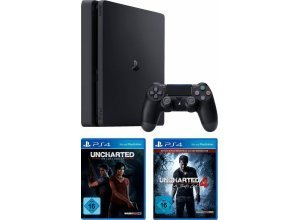 PlayStation 4 (PS4) 1TB + Uncharted Lost Legacy + Uncharted 4 Plus Edition, schwarz