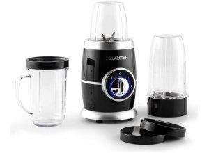 KLARSTEIN Standmixer Smoothiemaker Blender Küchenmaschine 8 teilig 220W »Juicinho«, schwarz
