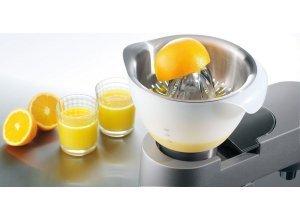 KENWOOD Zitruspresse AT312, Zubehör für Kenwood Küchenmaschinen der Serien Cooking Chef, Titanium, Chef Sense, Premier und Classic. Zum einfachen und schnellen Auspressen, silberfarben