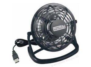 Mumbi Ventilator schwarz, Ø 10cm, Tischventilator mit USB-Anschluss