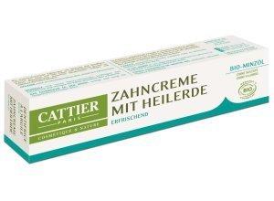 Cattier Zahncreme mit Heilerde Minze 75 ml