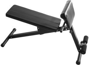 Verstellbare Sit Up / Hyperextension Hantelbank schwarz