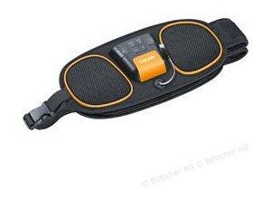 Beurer Bauchmuskelgürtel EM 39 EMS 2 in 1, Bauch und Rücken Muskelstimulator, 4 Elektroden