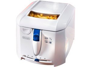 De´Longhi Fritteuse F 27201, 1800 W, Fassungsvermögen 2 l, abnehmbarer und abwaschbarer Fritteusendeckel, weiß