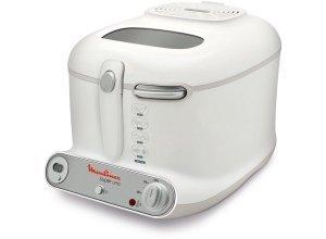 Moulinex Fritteuse AM3021, 1800 W, Fassungsvermögen 2,2 l, ergonomisch geformt und regelbarer Thermostat mit Temperaturkontrollleuchte, weiß