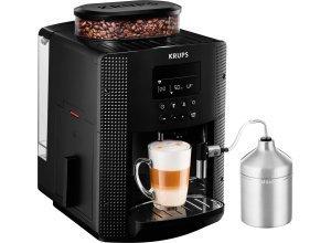 Krups Kaffeevollautomat EA8160, 1,8l Tank, Kegelmahlwerk, schwarz