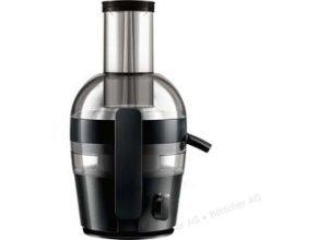 Philips Entsafter HR1855/70, schwarz, elektrisch, 700 Watt, Saftbehälter: 0,8 Liter
