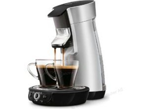 Philips Kaffeepadmaschine Senseo HD7831/10, Viva Cafe Plus, 1450W, 0,9 Liter, silber