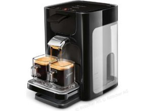 Philips Kaffeepadmaschine Senseo HD7865/60, Quadrante, 1450W, 1,2 Liter, schwarz