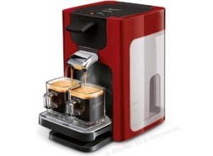 Philips Kaffeepadmaschine Senseo HD7865/80, Quadrante, 1450W, 1,2 Liter, rot