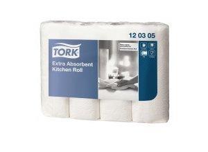 Tork Premium Küchenrolle 26 x 25 cm, 3-lagig, hochweiß, 1 Packung = 4 Rollen