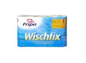 Fripa Wischfix Küchenrolle, 3-lagig, 100% Zellstoff mit Saugprägung, 26 x 24 cm, 1 Packung = 4 Rollen à 51 Blatt