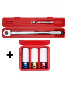 Sparset: Drehmomentschlüssel-Set, 30-210 Nm, mit Spezial-Radmutterneinsätzen