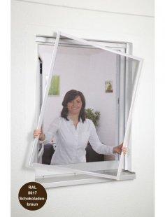 Insektenschutz-Fenster »Basic «, Bausatz braun, in verschiedenen Größen
