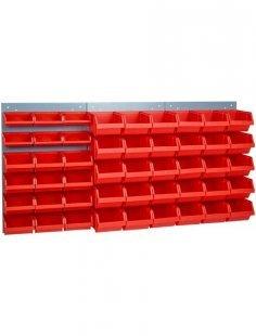 Wandpaneel, 3 Stk., inkl. 48 Werkzeugboxen