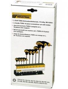 Schraubendrehersatz »L-Griff«, 10-tlg., TX/TTX mit Halter