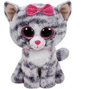 Beanie Boos - Katze Kiki grau, 15 cm