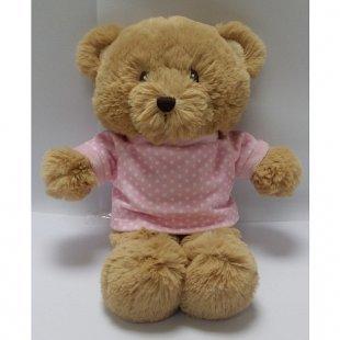 Animal Alley - Teddybär mit T-Shirt, pink, ca. 15 cm