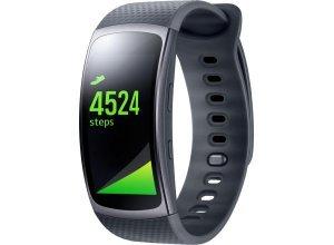 Samsung Gear Fit 2 Größe: L Smartwatch, Tizen, 3,86 cm (1,5 Zoll) AMOLED-Touchscreen Display, grau