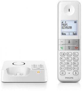 D 4551 W Schnurlostelefon mit Anrufbeantworter weiß