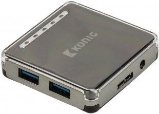 CSU3H4P100BL USB 3.0 4-Port USB-Hub silber/schwarz