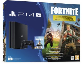 PS4 Pro Konsole (1TB) Konsolen Bundle Fortnite Royal Bomber schwarz