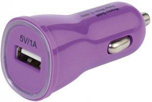USB Kfz-Ladenetzteil 1000mA lila