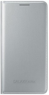 Flip Cover for Galaxy Alpha Schutz-/Design-Cover silber