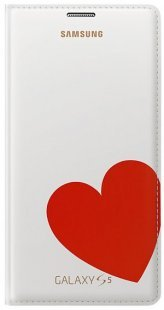 Flip Cover moschino heart white/red