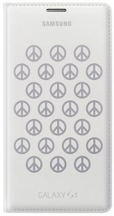 Flip Wallet moschino peace white/silver