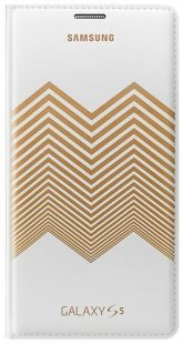 Flip Wallet kirkwood chevron white/gold