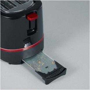AT 2292 Kompakt-Toaster schwarz/rot metallic