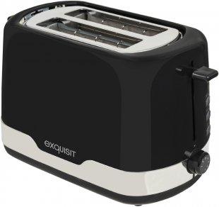 TA 6101 Kompakt-Toaster schwarz/edelstahl