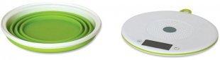 TKG EKS 1004 Küchenwaage mit Schüssel weiß/grün