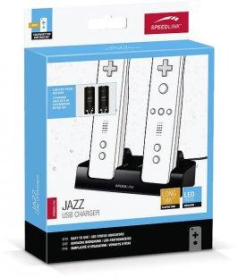Jazz USB Charger Wii U Zubehör schwarz