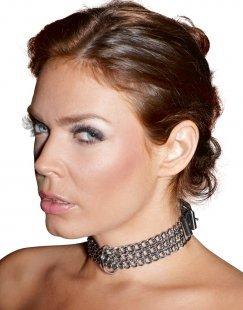 Halsfessel aus Metallketten, verstellbar mit Schnallenverschluss