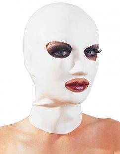 Kopfmaske aus Latex, mit Atemlöchern, weiß