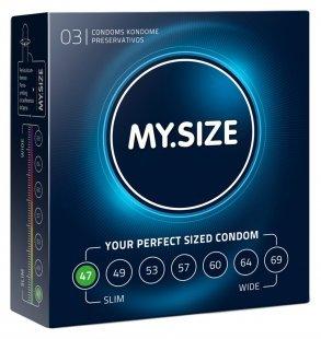 """Kondome """"47 mm´´ mit wenig Eigengeruch"""