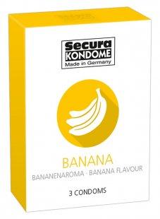 "Aromatisiertes Kondom ""Banana´´ mit Bananenduft"