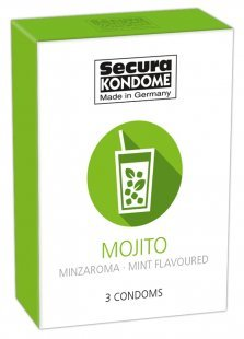 """Kondom """"Mojito´´, grün, mit Minzaroma, 52 mm"""