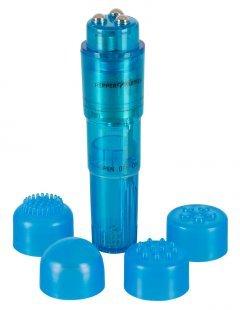 """Minivibrator """"Compact Pro´´, 10 cm, mit 4 Stimulations-Aufsätzen"""