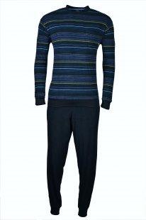 hajo Polo & Sportswear hajo Polo & Sportswear Frottee-Schlafanzug blaukombi