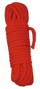 Bondageseil aus Baumwolle, 10 m lang, Ø 0,7 cm, rot