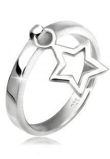 Elli Ring »Stern Anhänger 925 Silber«