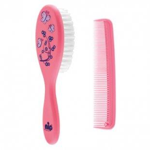 nip Haarpflegeset Bürste & Kamm pink